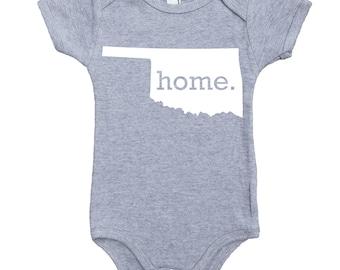 Homeland Tees Oklahoma Home Unisex Baby Bodysuit