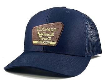 Homeland Tees Eldorado National Forest California Patch Trucker Hat