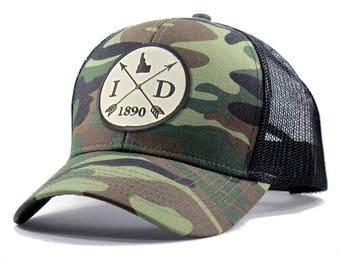 Homeland Tees Idaho Arrow Hat - Army Camo Trucker