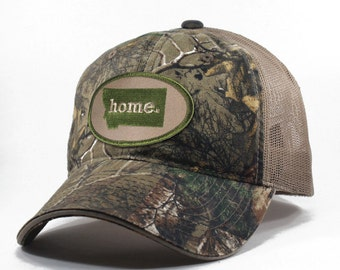 Homeland Tees Montana Home State Realtree Camo Trucker Hat