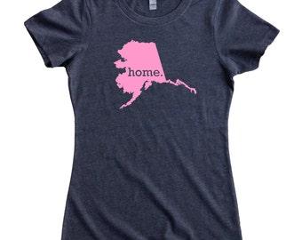Homeland Tees Alaska Home State Women's T-Shirt - PINK EDITION