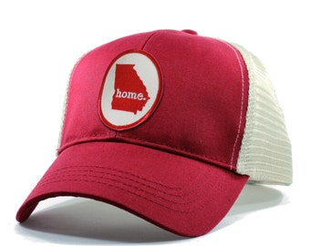 Homeland Tees Georgia Home Trucker Hat - Red Patch
