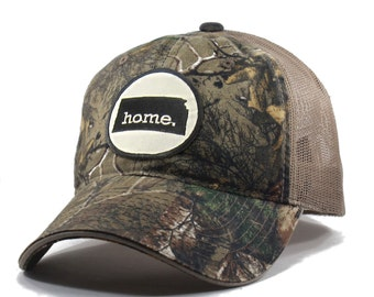 Homeland Tees Kansas Home State Realtree Camo Trucker Hat