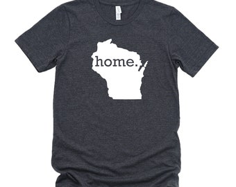 Homeland Tees Wisconsin Home State T-Shirt - Unisex