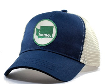accea6d91447a Homeland Tees Washington Home Trucker Hat - Green Patch