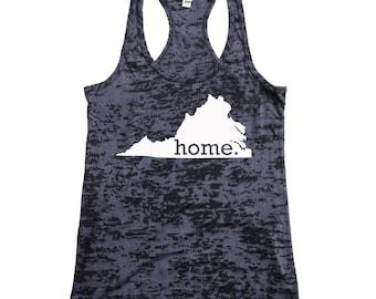 Virginia Home Burnout Racerback Tank Top - Women's Workout Tank Top