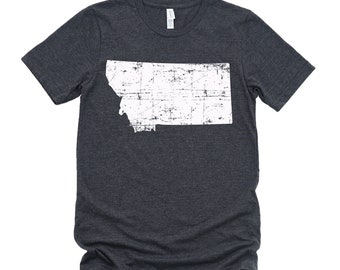 Homeland Tees Montana State Vintage Look Distressed Unisex T-shirt