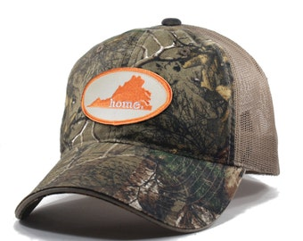 Homeland Tees Virginia Home State Camo Realtree Trucker Hat