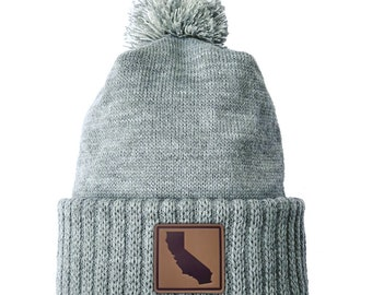 Homeland Tees California Leather Patch Cuff Beanie