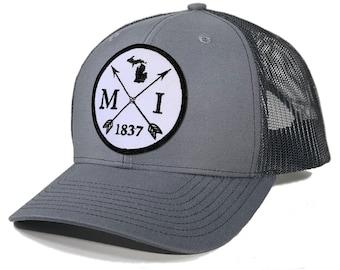 Homeland Tees Michigan Arrow Patch Trucker Hat