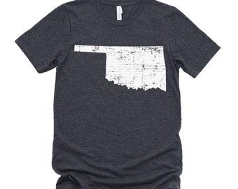 Homeland Tees Oklahoma State Vintage Look Distressed Unisex T-shirt