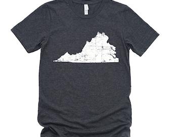 Homeland Tees Virginia State Vintage Look Distressed Unisex T-shirt