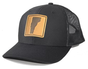 Homeland Tees Vermont Leather Patch Trucker Hat
