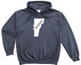 Homeland Tees Vermont Home Pullover Hoodie Sweatshirt