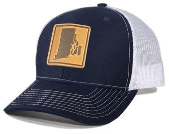 Homeland Tees Rhode Island Leather Patch Trucker Hat