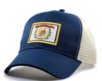 Homeland Tees West Virginia Flag Hat - Trucker 7ff700a1d74