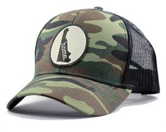 Homeland Tees Delaware Home Army Camo Trucker Hat