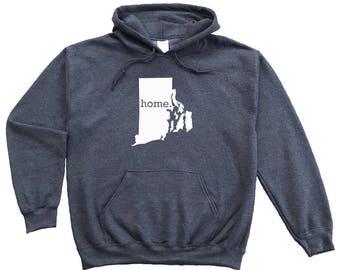 Homeland Tees Rhode Island Home Pullover Hoodie Sweatshirt