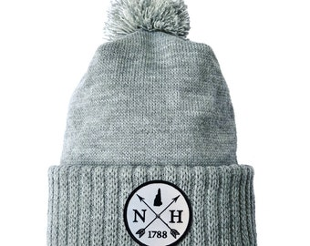Homeland Tees New Hampshire Arrow Patch Cuff Beanie