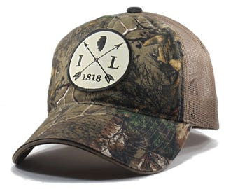 Homeland Tees Illinois Arrow Hat - Realtree Camo Trucker