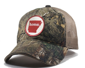 Homeland Tees Arkansas Home State Realtree Camo Trucker Hat