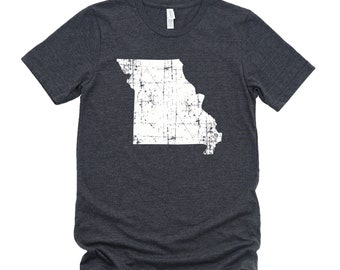 Homeland Tees Missouri State Vintage Look Distressed Unisex T-shirt
