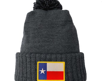 Homeland Tees Texas Flag Patch Cuff Beanie