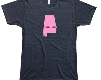 Homeland Tees Men's Alabama Home T-Shirt PINK EDITION