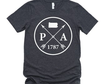 Homeland Tees Unisex Pennsylvania Arrow T-shirt