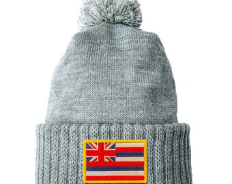 Homeland Tees Hawaii Flag Patch Cuff Beanie
