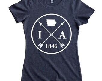 Homeland Tees Iowa Arrow Women's T-Shirt