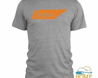 Homeland Tees Men's Tennessee Home T-Shirt ORANGE LOGO