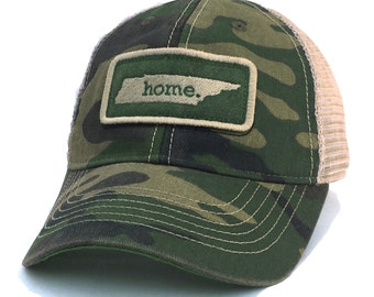 Homeland Tees Tennessee Home Trucker Hat - Vintage Camo