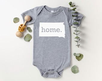 Homeland Tees South Dakota Home Bodysuit Baby Boy Girl Newborn Coming Home Outfit Shower Gift