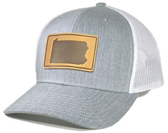 Homeland Tees Mens Oregon Leather Patch Trucker Hat
