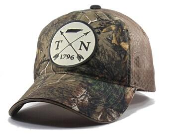 Homeland Tees Tennessee Arrow Hat - Realtree Camo Trucker