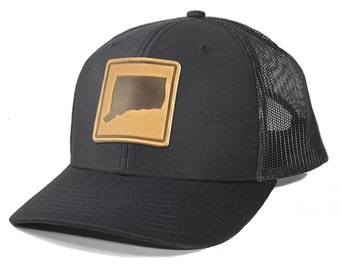 Homeland Tees Connecticut Leather Patch Trucker Hat