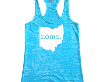Ohio Home Burnout Racerback Tank Top - Women's Workout Tank Top