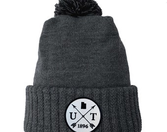 Homeland Tees Utah Arrow Patch Cuff Beanie