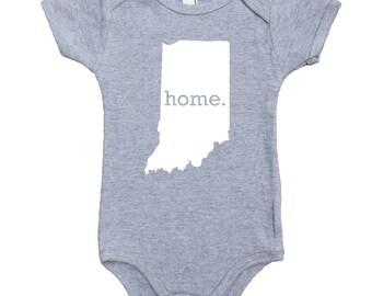 Homeland Tees Indiana Home Unisex Baby Bodysuit
