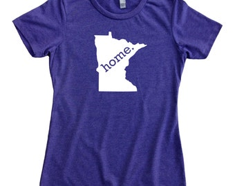 Homeland Tees Minnesota Home State Women's T-Shirt