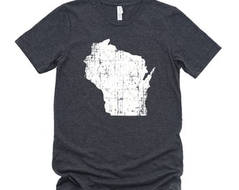 Homeland Tees Wisconsin State Vintage Look Distressed Unisex T-shirt