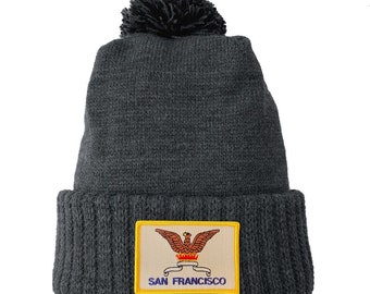 Homeland Tees San Francisco Flag Patch Cuff Beanie