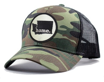 d5c3294d18627 Homeland Tees Washington Home Trucker Hat - Army Camo