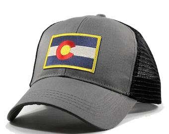 f1948df06cd705 Homeland Tees Colorado Flag Hat - Trucker