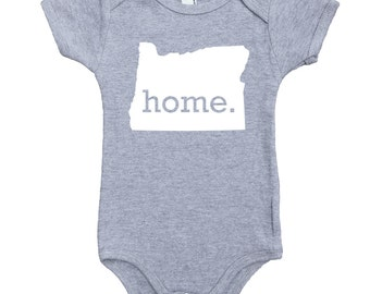 Homeland Tees Oregon Home Unisex Baby Bodysuit