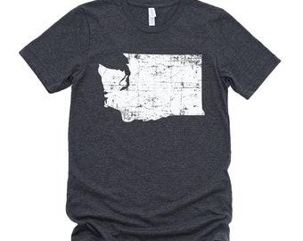 Homeland Tees Washington State Vintage Look Distressed Unisex T-shirt