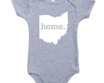 Homeland Tees Ohio Home Unisex Baby Bodysuit