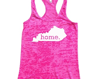 Kentucky Home Burnout Racerback Tank Top - Women's Workout Tank Top