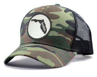 Homeland Tees Florida Home Army Camo Trucker Hat